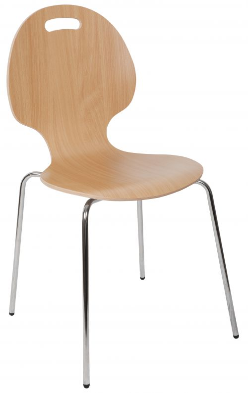 Teknik Office Cafe Chair Available In Singles Or Packs Of 4 Breakout Chair Chrome Legs And Solid Shell Seating