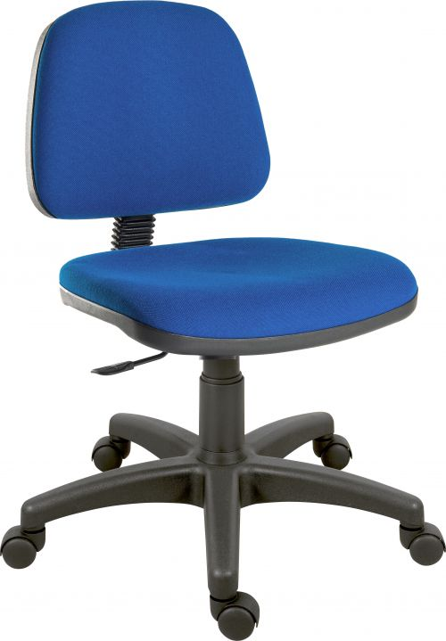 Teknik Office Ergo Blaster Blue Fabric Operator Chair Medium Sized Backrest  Accepts Optional Arm Rests