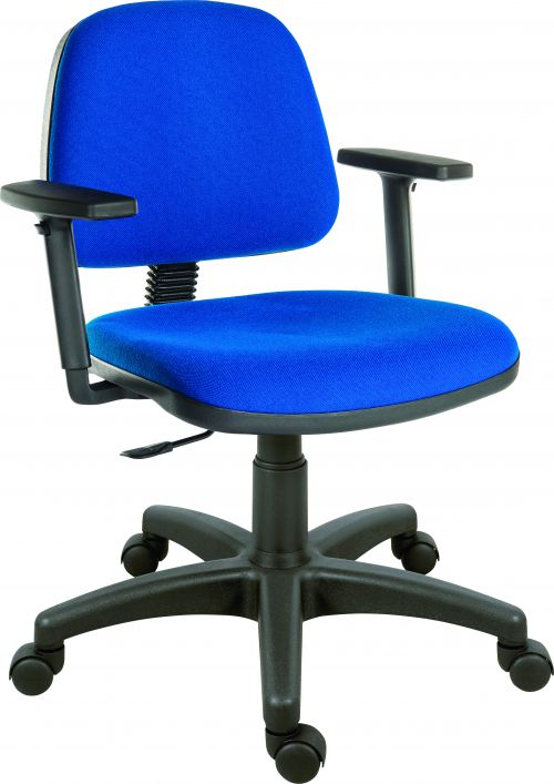office blue. Teknik Office Ergo Blaster Blue Fabric Operator Chair Medium Sized Backrest Accepts Optional Arm Rests