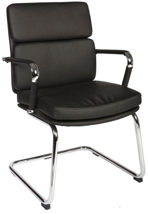 Teknik 1101BLK Deco Cantilever Black Chair