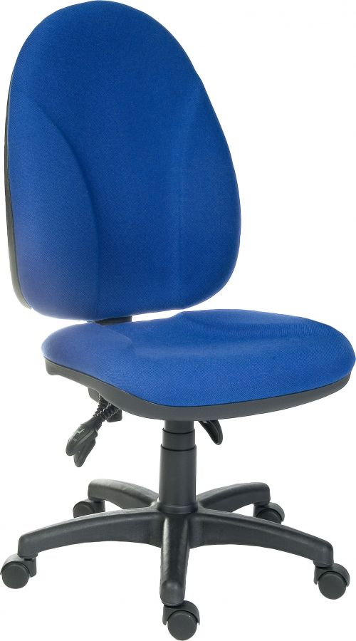 Teknik Office Commander Blue Large Ergonomic Operator Chair Generous Seat Size Optional Adjustable Arms