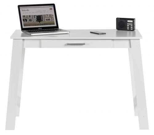 Teknik Office White Trestle Desk With Stationery Drawer