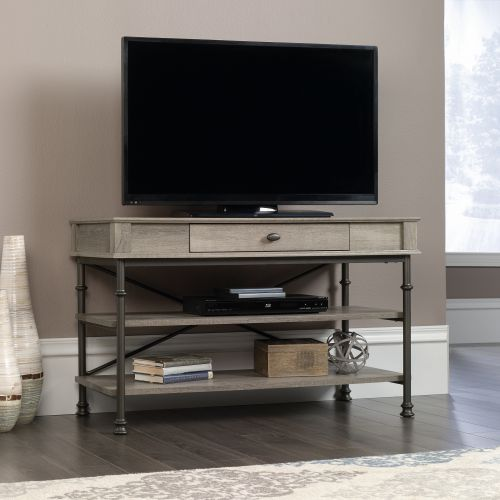 Teknik Office Canal Heights TV Stand Northern Oak Finish