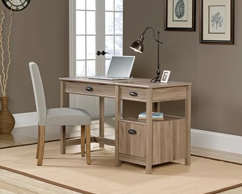 Teknik Office Sit Stand Desk Salt Oak Multiple Storage