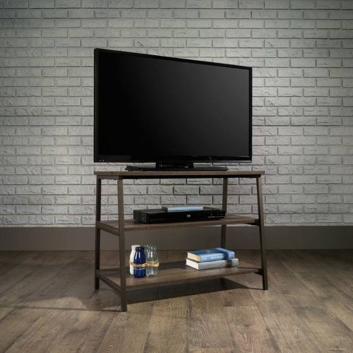 Teknik Office Industrial Style TV Stand Durable Black Metal Frame Up to a 36 TV