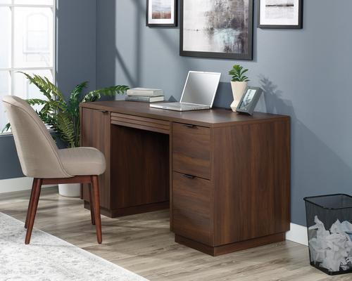 Teknik Office Elstree Double Pedestal Desk Spiced Mahogany