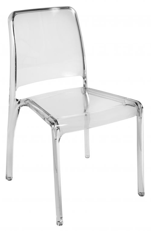 Teknik Office Clarity Clear Stackable Translucent Polycarbonate Chair Sold In Packs Of 4