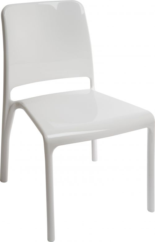 Teknik Office Clarity White Stackable Polycarbonate Chair Sold In Packs Of 4