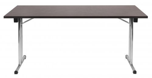 Teknik Office Wenge Effect Space Folding Executive Table