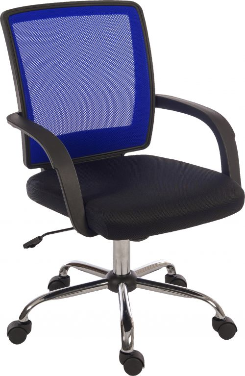 Teknik 6910BL Star Mesh Blue Back Chair