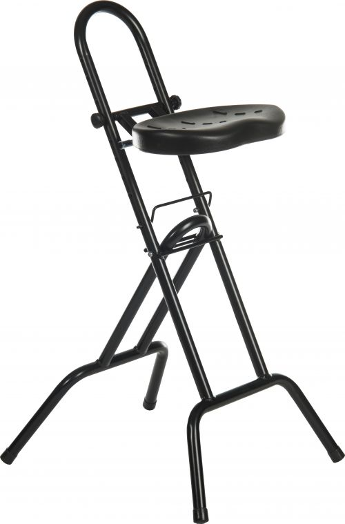 Teknik Office Industrial Support Stool with Durable Polyurethane Seat and 3 Year Warranty