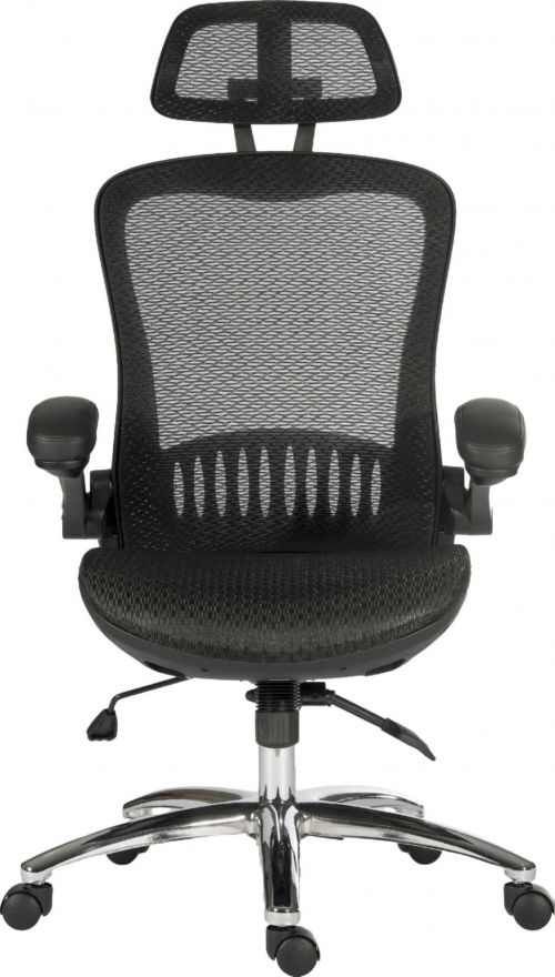 Teknik Office Harmony Executive  Mesh High Backrest Chair with Adjustable Armrests and Chrome Base