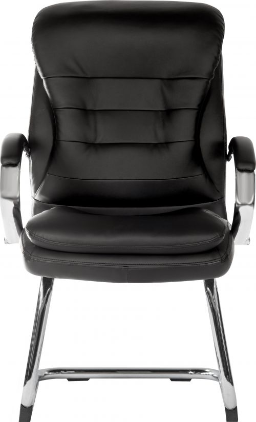 Teknik Goliath Light Visitor Black Cantilever Chair with Matching Padded Armrests