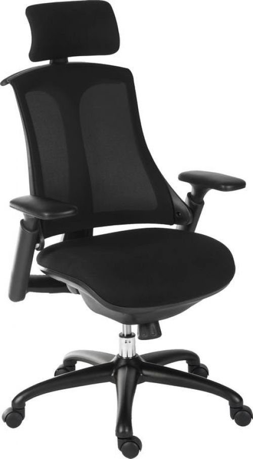 Teknik 6964BLK Rapport Mesh Executive Chair Black