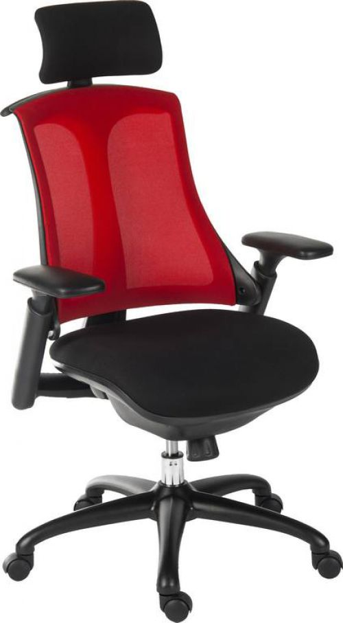 Teknik 6964BLK Rapport Mesh Executive Chair Red