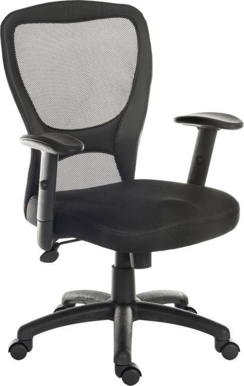 Teknik 6967 Mistral Black Mesh Backed Chair