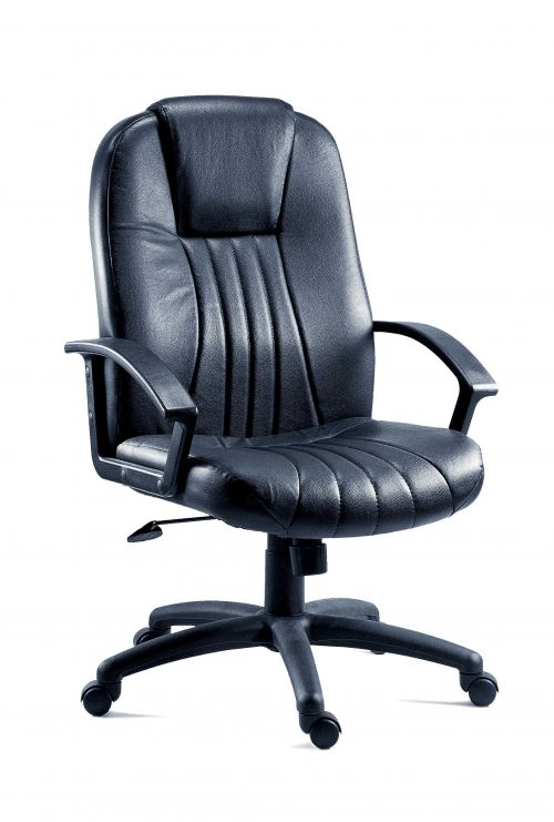 Teknik 8099L City Leather Faced Exec Chair