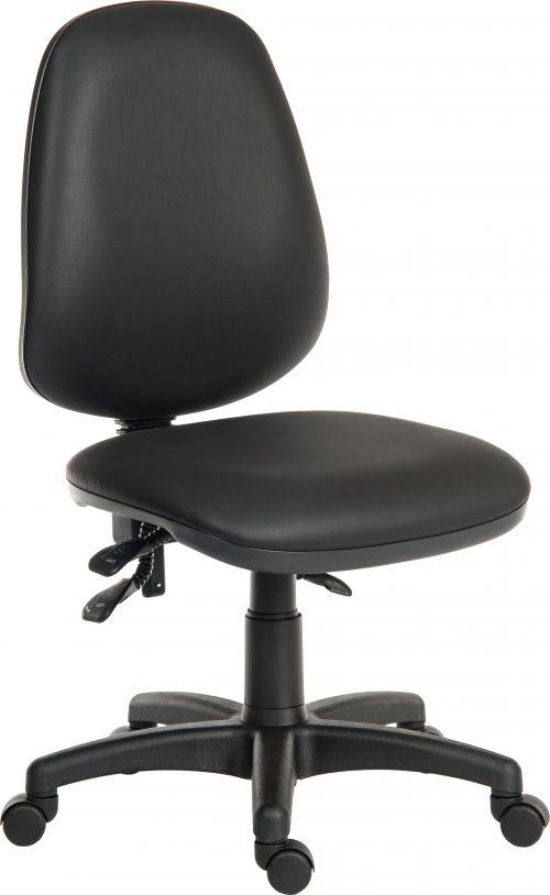 Teknik 9400 PU Practica Black PU Operator Chair