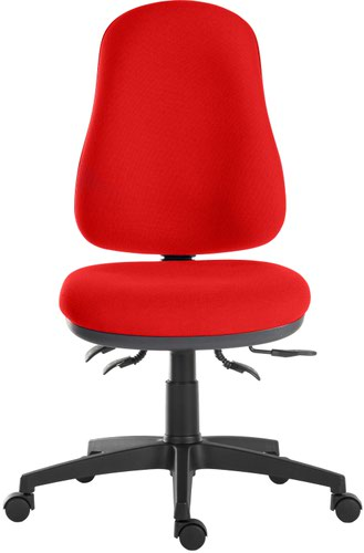 Teknik Office Ergo Comfort Air Spectrum Fabric in Red with high back executive operator chair