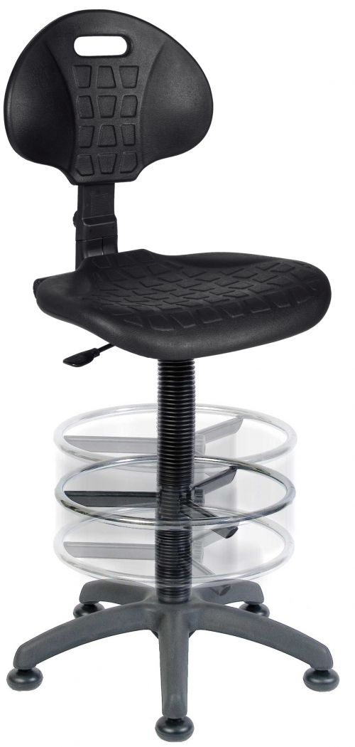 Teknik Office Labour Draughting Polyurethane Chair Deluxe Ring Kit Conversion With Movable Footrest