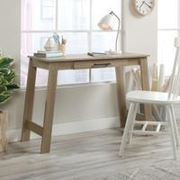 Teknik Office Summer Oak Effect Trestle Desk with stationery drawer