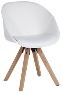 Teknik Office White Pyramid Padded Tub Chair Soft Polyurethane and PU Fabric Wooden Oak Legs Black Red Or White Packs Of 2
