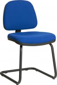 Teknik Office Ergo Visitor Blue Fabric Cantilever Framed Chair Certified To 160Kg