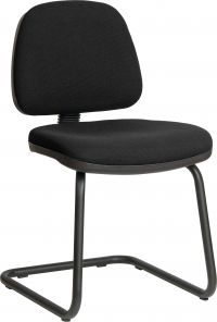 Teknik Office Ergo Visitor Black Fabric Cantilever Framed Chair Certified To 160Kg