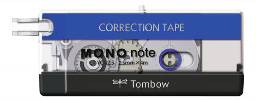 Tombow Correction tape MONO note 2.5mmX4m Black/White/Blue PK1