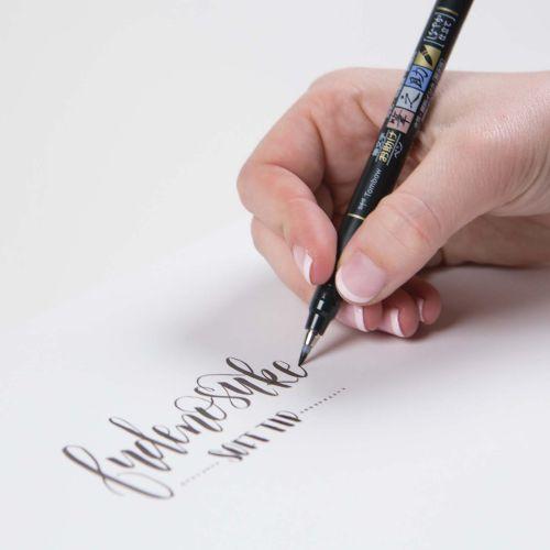 Tombow Fudenosuke Brush Pen Soft Tip Black