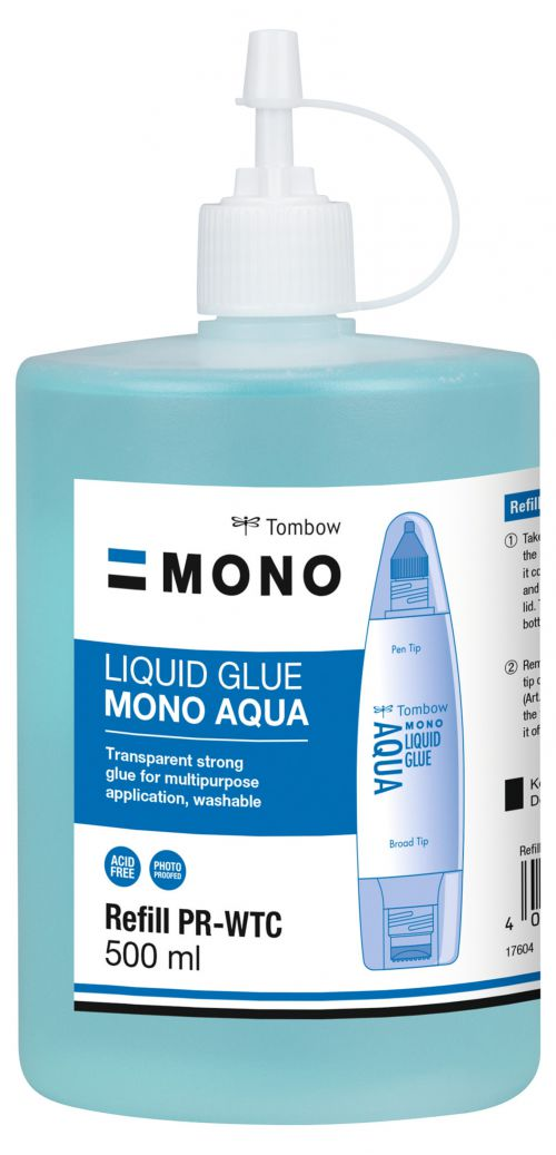 Tombow Refill for Liquid Glue PT-WTC 500ml Washable