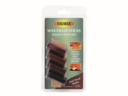 Wax Filler Sticks Dark Wood Shades (Pack 4)