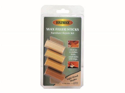 Wax Filler Sticks Light Wood Shades (Pack 4)