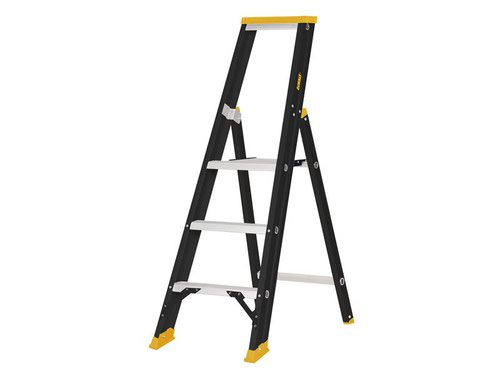 Professional Single Stepladder, 0.75m 3 Rungs
