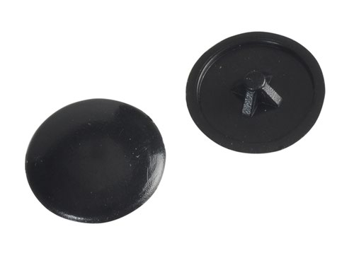 Pozi Compatible Cover Cap Black No.6-8 Forge Pack 50