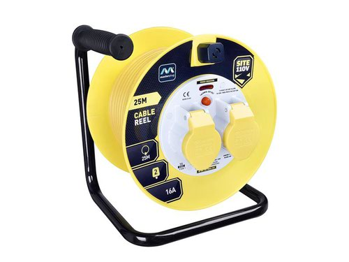 Cable Reel 110V 16A Thermal Cut-Out 25m