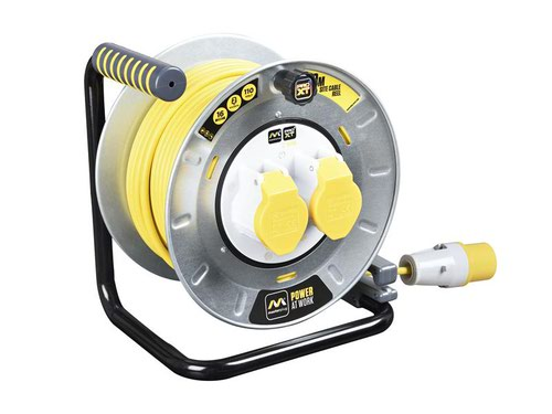 PRO-XT Metal Cable Reel 110V 16A Thermal Cut-Out 30m