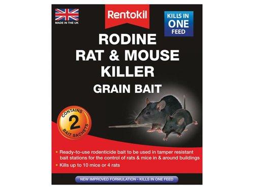 Rodine Rat & Mouse Killer Grain Bait (Sachets 2)