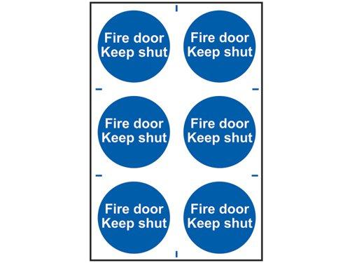 Fire Door Keep Shut - PVC 200 x 300mm