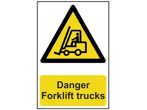 Danger Forklift Trucks - PVC 200 x 300mm