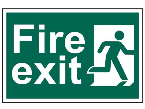 Fire Exit Man Running Right - PVC 300 x 200mm