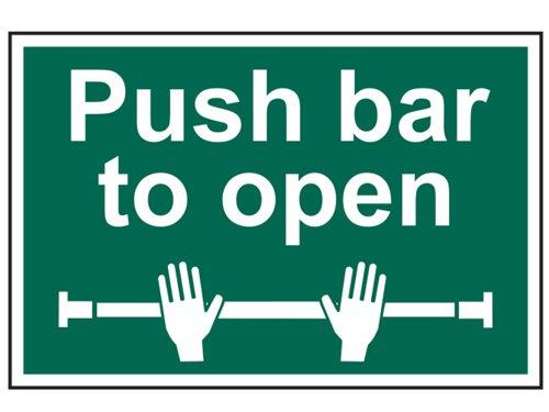 Push Bar To Open - PVC 300 x 200mm