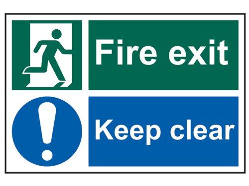 Fire Exit Keep Clear - PVC 300 x 200mm