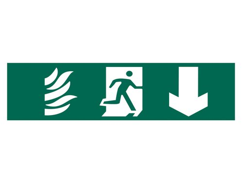 Running Man Arrow Down - PVC 200 x 50mm