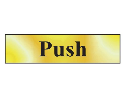 Push - Polished Brass Effect 200 x 50mm