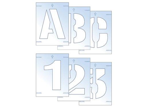Letter & Number Stencil Kit 50mm
