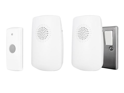 Portable & Plug-In Door Chime (Twin Pack)