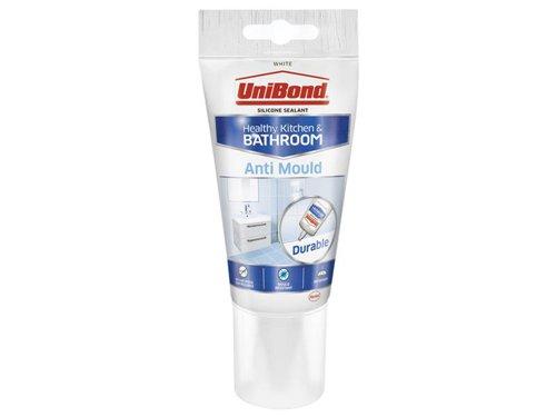Anti-Mould Kitchen & Bathroom Sealant Tube White 147g