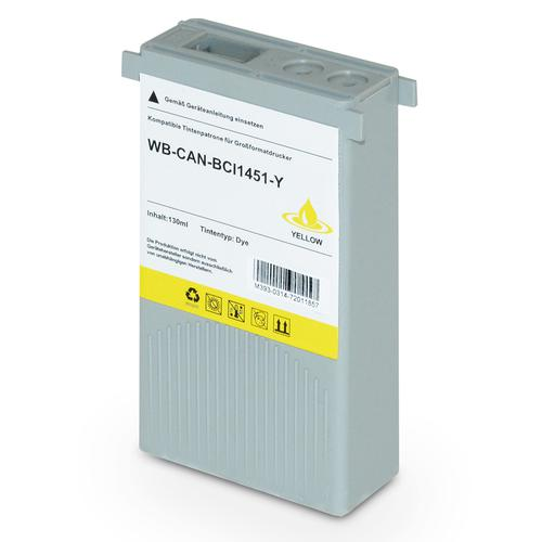 Compatible Canon Inkjet BCI-1451Y 0173B001 Yellow 130ml *7-10 Day Lead*