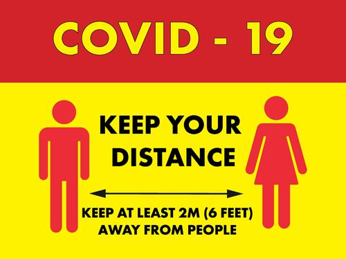 Keep your distance Hanging Sign 600 x 450mm